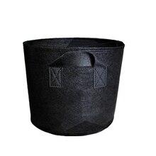 ไม่ทอ Tree Pots Grow กระเป๋าคอนเทนเนอร์พืชสีดำมือปลูกดอกไม้ Nonwoven กระเป๋าเติบโตวัฒนธรรม