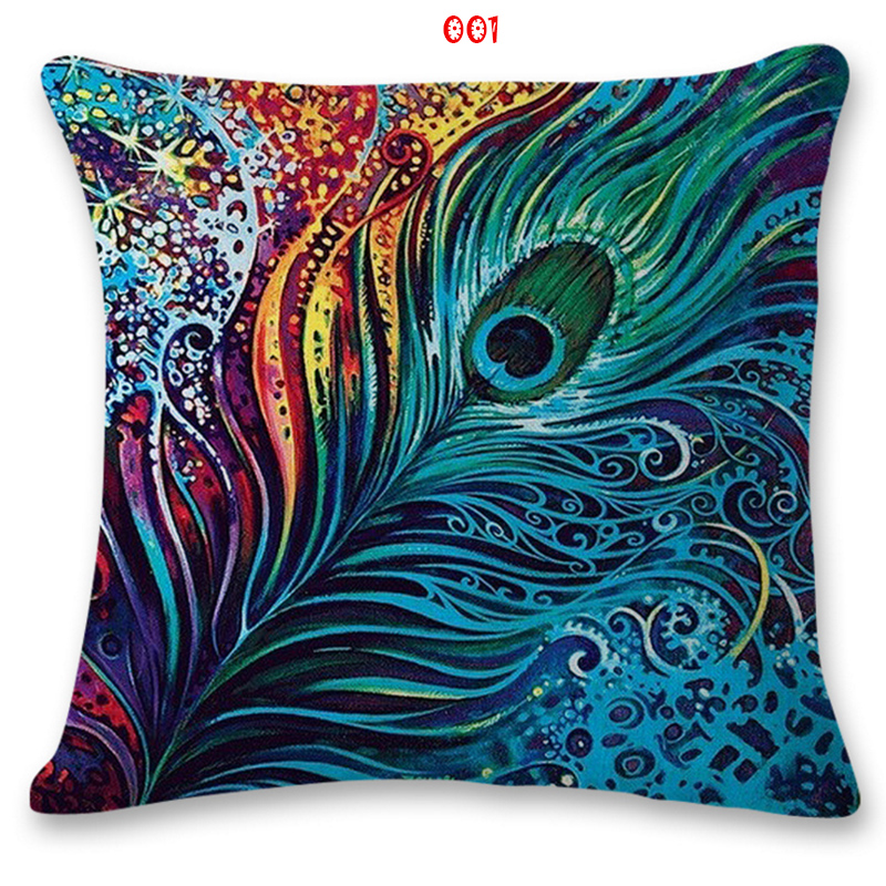 Cushion cover Thai element elephant pattern linencotton pillow