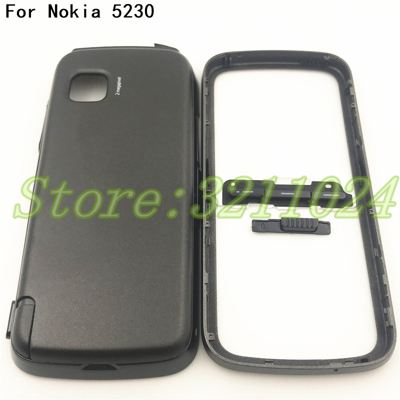 For Nokia 5230 New Full Complete Mobile Phone Housing Cover Case+ Keypad+Logo