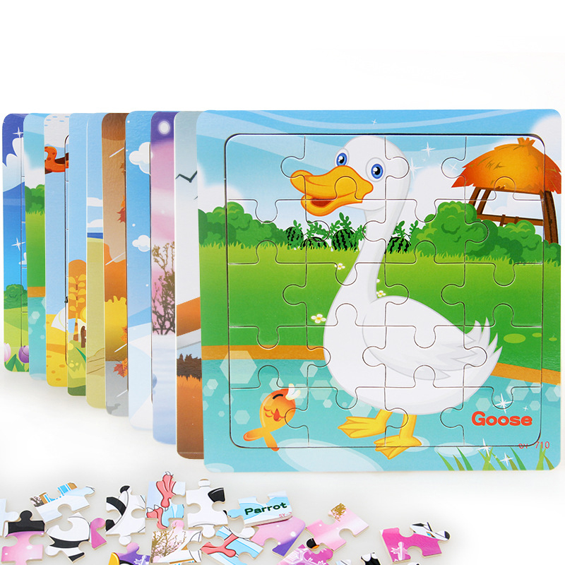 Byfa 1pc Wooden 3D Puzzle Baby Educational Toys Games Kids