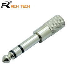 High quality Metal tube speaker audio jack connector 6 35mm stereo male plug to 3 5mm