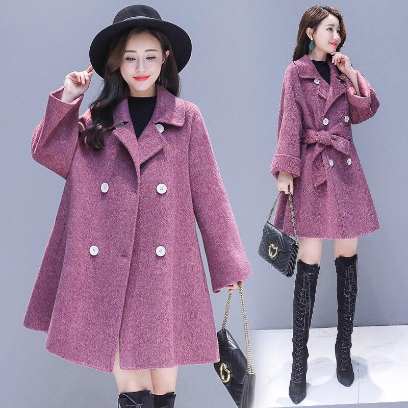 Épais Version purple Grande Taille Femmes Slim Mode Gray Vestes De Parka Manteau Laine Femme Couleur En 2019 Coréenne Solide Veste Survêtement qwZR7cRUn