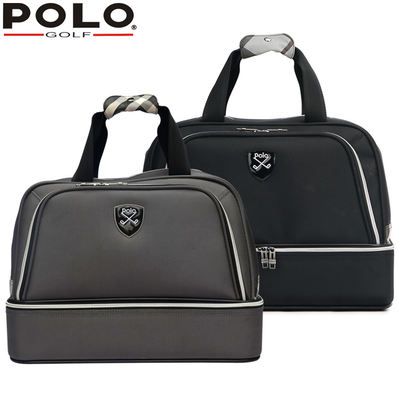 High-quality Brand Polo Genuine Golf Clothing Bag of Men's Shoes Bags Large Capacity Oxford Fabric 2016 New Travel Apparel Bags 2017 large capacity waterproof nylon golf boston bag travel clothing bag with separate golf shoes bag embroidery logo