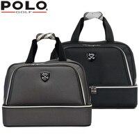Wysokiej jakości marki polo prawdziwej golf odzież torba męskich butów torby duża pojemność oxford tkaniny 2016 nowy podróży apparel torby