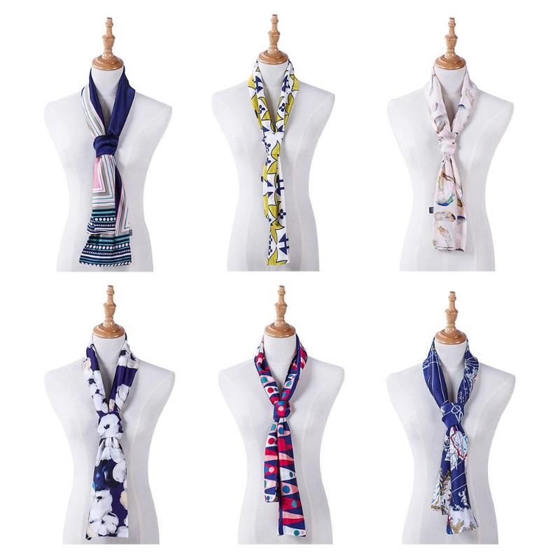 Fashion Business Women Scarf Satin Collar Scarves Casual Decoration Gift