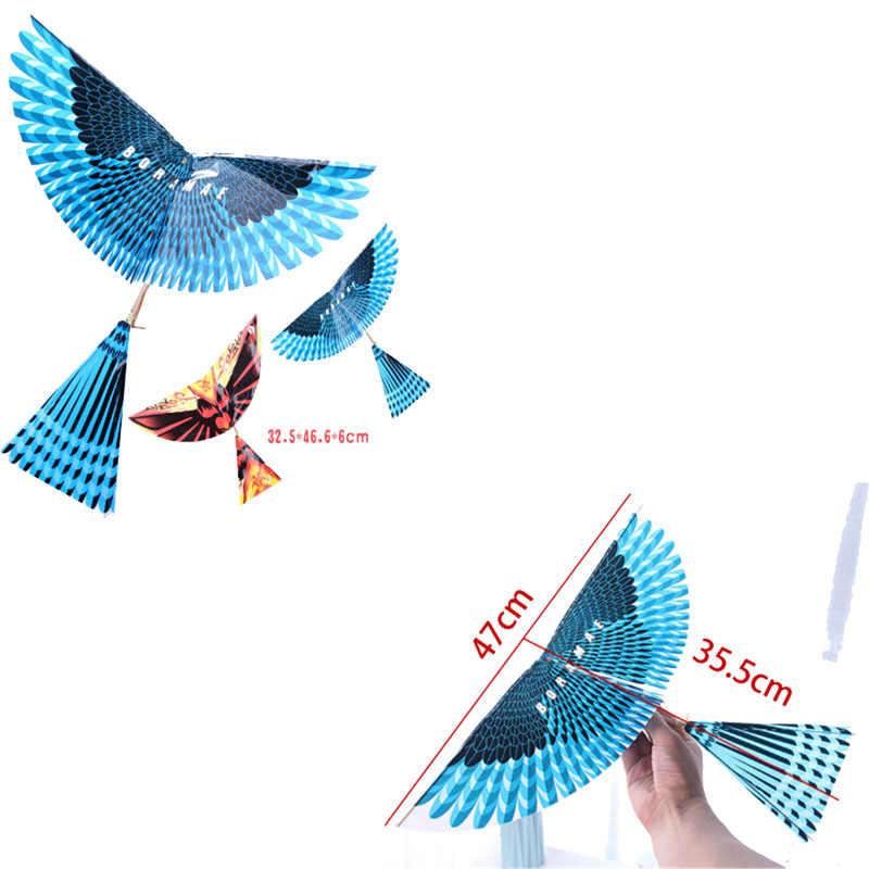 Nueva Banda de goma para manualidades Power Bionic Air Plane Ornithopter, modelos de aves, cometa de ciencia, juguetes para niños y adultos, regalo de montaje