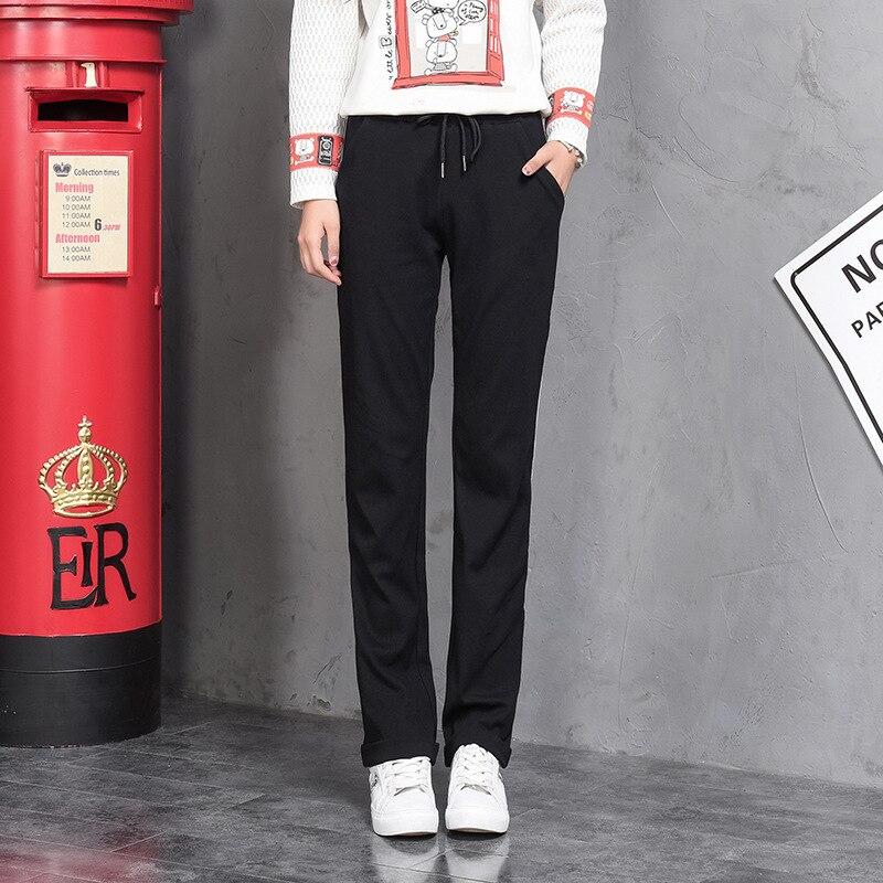 Lang Pantalones Nueva Ventilador La Pantalones Con Rectos Runing Raya Black Un Deportes blue Casual Mujer Streetwear Otoño w5qWXE