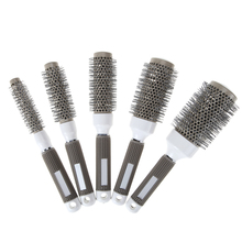 5 Sizes Durable Ceramic Ionic Round Comb Barber Hair Dressing Salon Styling Tools Brushes Barrel Hairbrush HOT selling