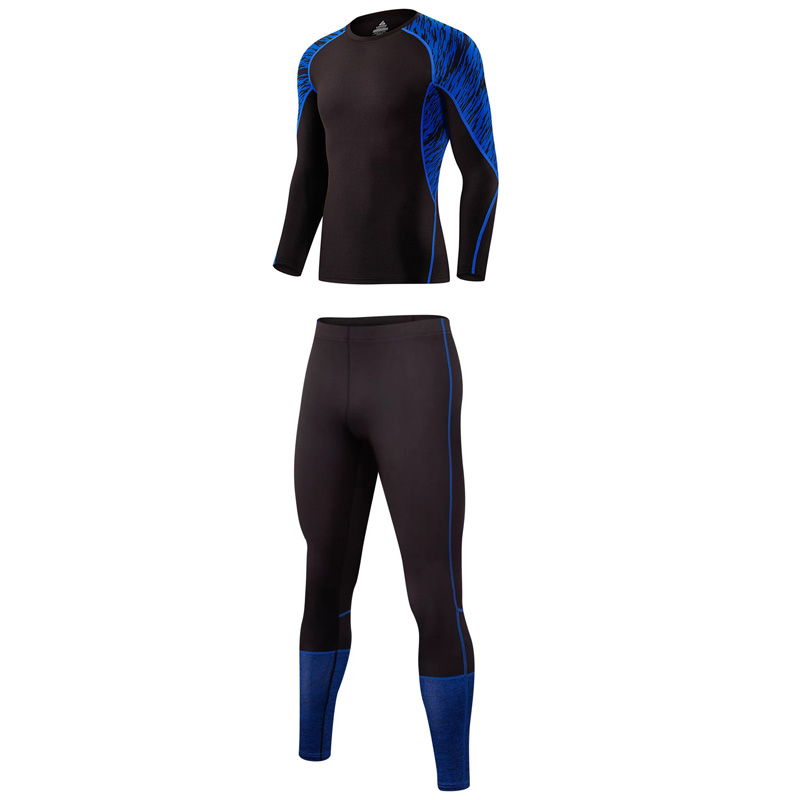 MMA tracksuit for men 2017 Hot style crossfit men long sleeve thermal knitwear union suit compression clothing rash guard M-XXXL