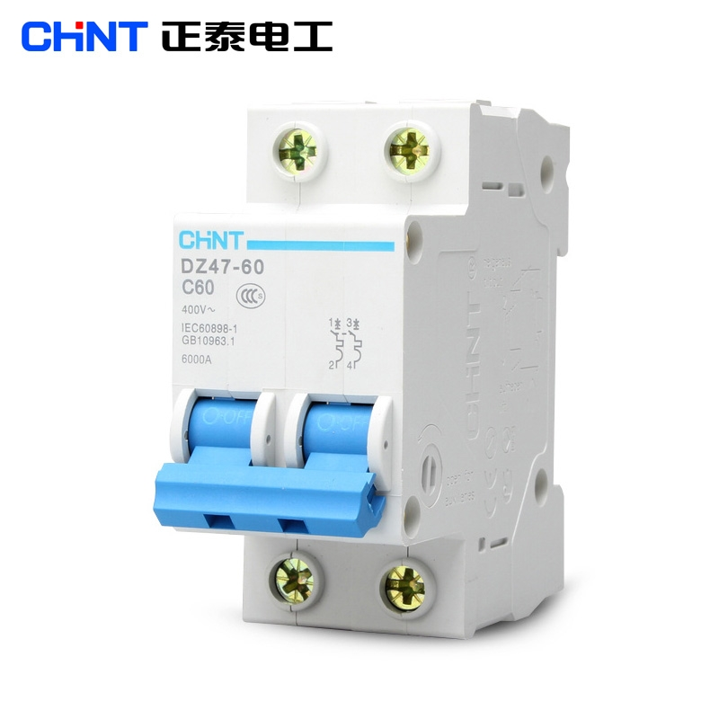 chint dz47 60 c60 2p 60a household miniature circuit breaker in