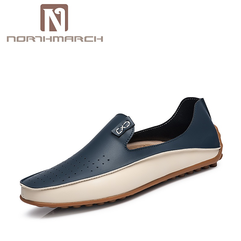 NORTHMARCH New Fashion Men Casual Shoes Luxury Brand Flats Shoes For Men Driving Shoes PU Leather