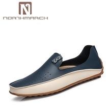 Northmarch Новинка, Модные мужские повседневные туфли Элитный бренд обувь на плоской подошве для Мужские туфли для вождения лоферы из искусственной кожи обуви Для мужчин Herren Schuhe