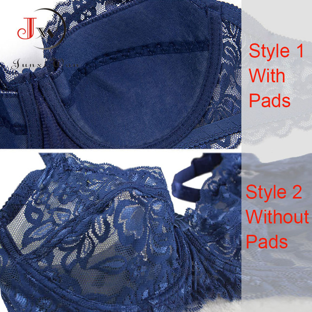 Plus Size Push Up Bra Sexy Embroidery Lace Bras Intimate Brassiere Underwire Bralette For Women Underwear Lingerie