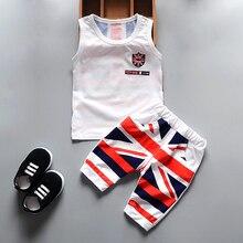 Baby clothing 2pcs suits sleeveless tshirt+short pants children girls's clothes sets kids t-shirt shorts for boys 2019 summer стоимость