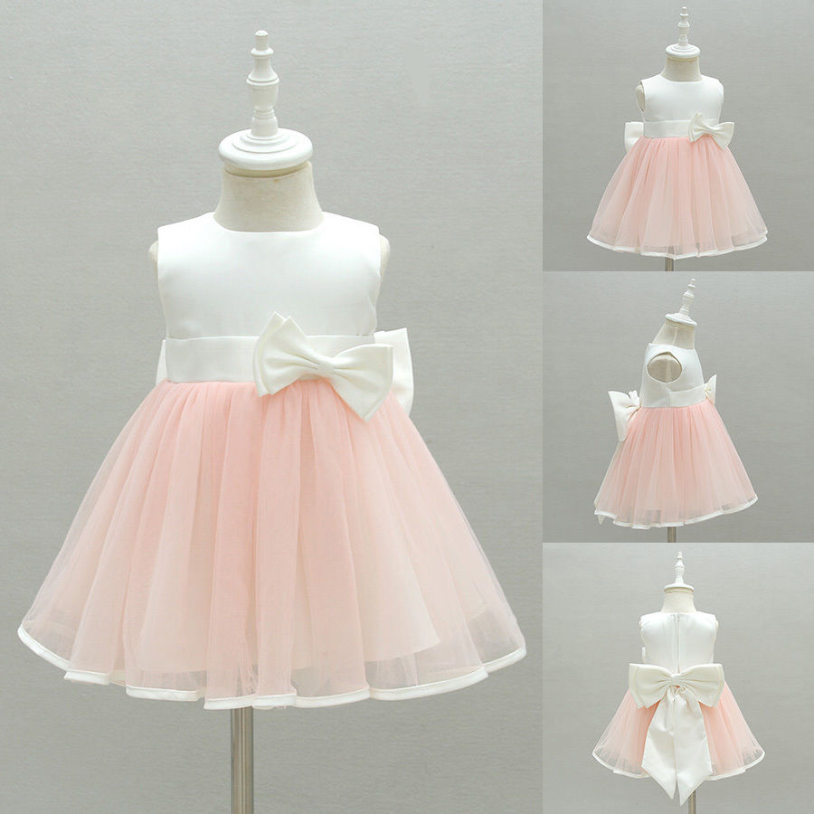 0-2Y Infant Toddler Flower Girl Tutu dress Christening Wedding Birthday Clothes baby girl 1st birthday outfits short sleeve infant clothing sets lace romper dress headband shoe toddler tutu set baby s clothes