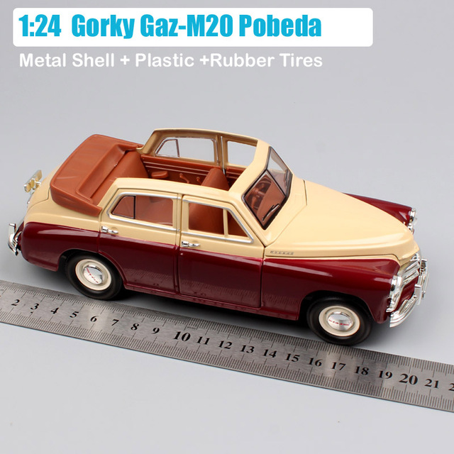 1 24 Scale Classic Russia Soviet Gorky Gaz-M20 Pobeda Volga convertible M20 Molotovets diecast model Automobile car toy vehicleDiecasts & Toy Vehicles