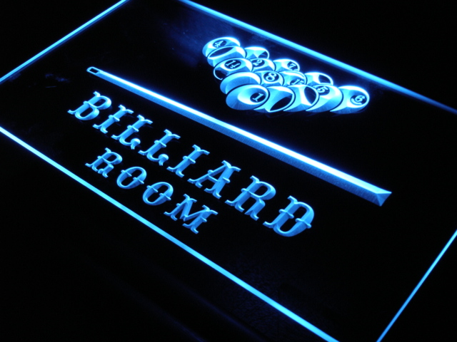 S082 Biliardo Pool Room Bar Beer LED Neon Light Sign On/Off Switch 20 + Colori 5 Formati