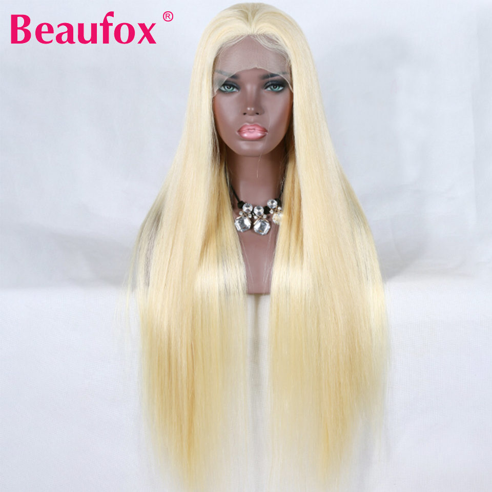 Beaufox 613 Lace Front Wig Blonde Brazilian Straight Hair