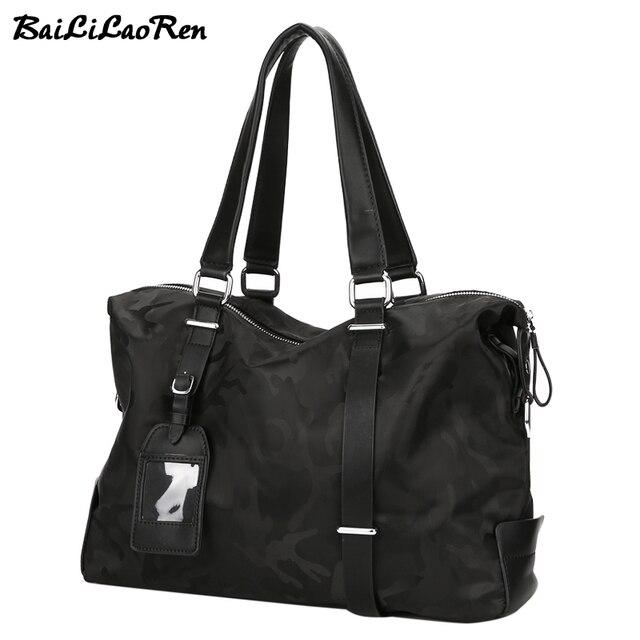 8e5a192c6b BaiLiLaoRen Brand Large Capacity Men Handbags Nylon Male Casual Travel Tote  Bags Waterproof Business Briefcase Man Shoulder Bags