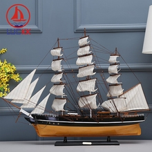 LUCKK 90CM CUTTY SARK Wooden Model Ships Burlywood Nordic Home Decoration Interior Wood For Crafts Creative Sea Style Souvenirs