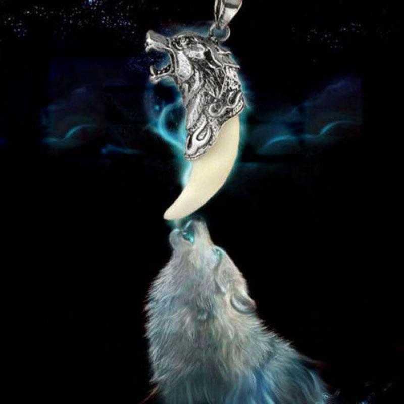 FUNIQUE naszyjnik męska wilk zębów stali nierdzewnej wisiorek naszyjniki dla mężczyzn obojczyka lina mężczyzna naszyjnik Choker władcze biżuteria