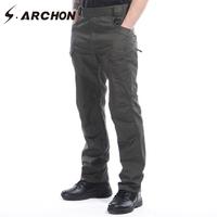 S ARCHON New IX7 Casual Waterproof Rip Stop Tactical Cargo Pants Men Breathable Multi Function Pocket