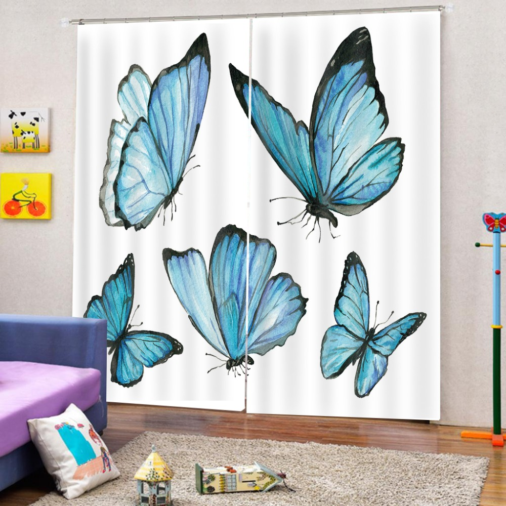 3d Curtains Customize Simple butterfly Photo 3D Curtains For Living Room Bedroom Home Decoration Customize Curtains    3d Curtains Customize Simple butterfly Photo 3D Curtains For Living Room Bedroom Home Decoration Customize Curtains