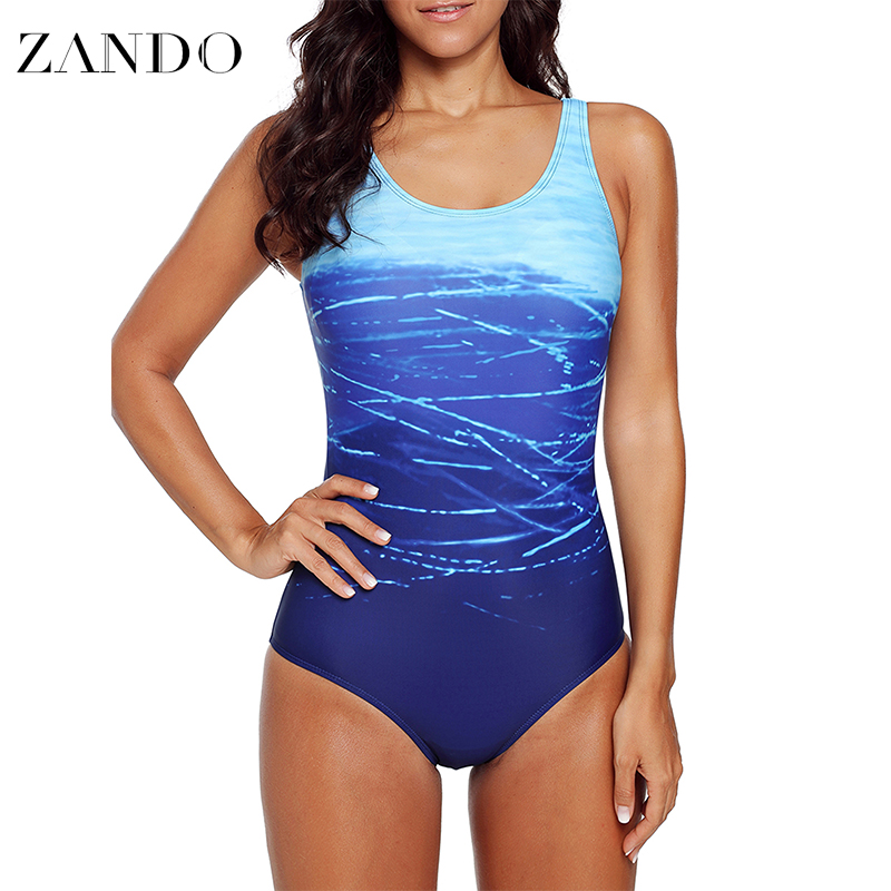 Zando Summer Sexy Swimsuit Plus Size One Piece Women Swimwear Bathing Suits Monokini Swimwear Slimming Bodysuit New 2019 in Body Suits from Sports Entertainment