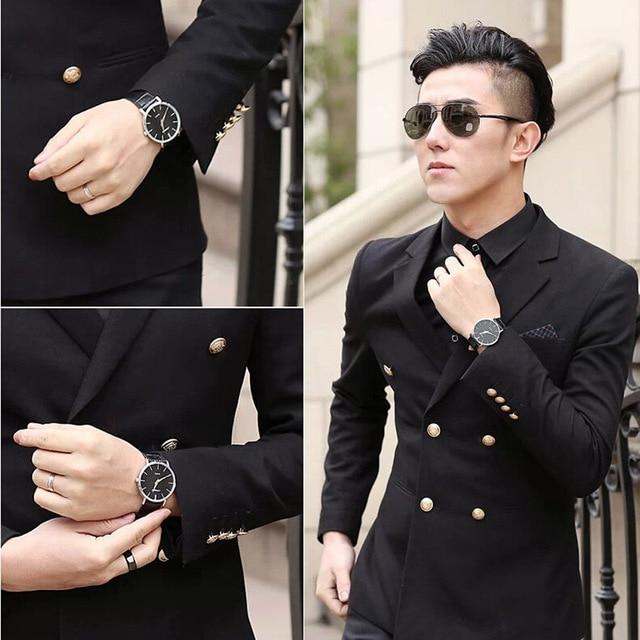 Super slim Quartz Casual Wristwatch Business JAPAN SINOBI Brand Leather Analog Quartz Watch 2