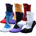 Profissionais do sexo masculino meias 100% algodão toalha de espessamento na altura do joelho-alta menino homem de meias
