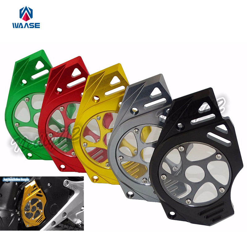 Motorcycle Front Sprocket Chain Guard Cover Engine For Kawasaki ER6N ER6F 2006 2007 2008 2009 2010 2011 2012 2013 2014 2015-2017 for yamaha r1 2009 2010 2011 2012 2013 2014 motorcycle accessories motorbike parts engine cover engine protective side protector