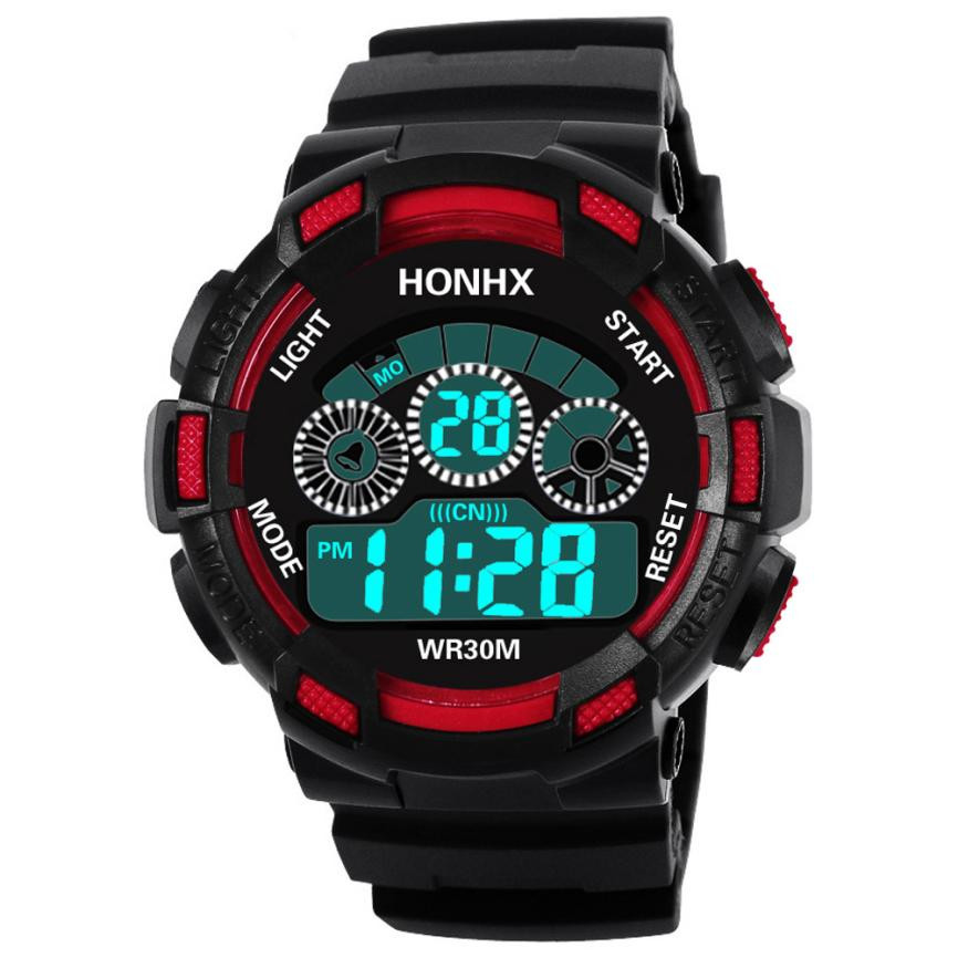 Hot Children Watch Boys Life Waterproof Digital Led Sports Watch Kids Alarm Date Watch Gift Reloj Digital Hombre Reloj Deportivo
