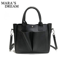 Mara's Dream Fashion PU Leather Top-handle Women Handbag Solid Ladies L