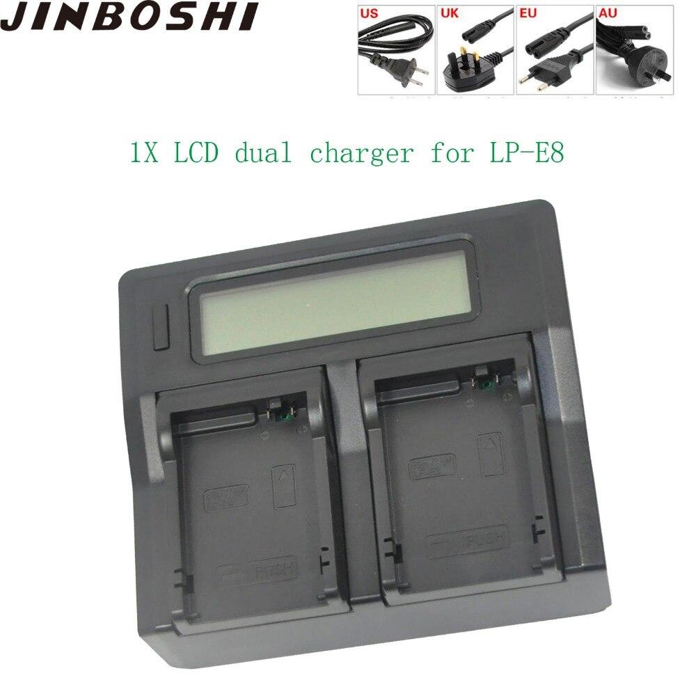 1 pièces LCD Double Chargeur Plus Rapide pour Canon LP-E8 LP E8 LPE8 EOS 550D 600D 650D 700D Baiser X4 X5 X6i X7i Rebelles T2i T3i T4i T5i