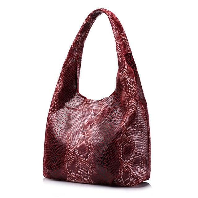 Большая Женская сумка на плечо из натуральной кожи REALER