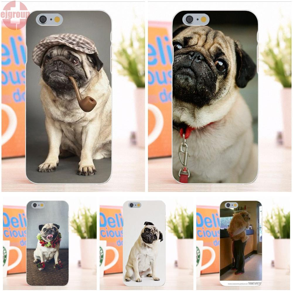 EJGROUP Soft TPU Silicon Mobile Phone pug dog fashion animale For Apple iPhone 6 6S 4.7 inch