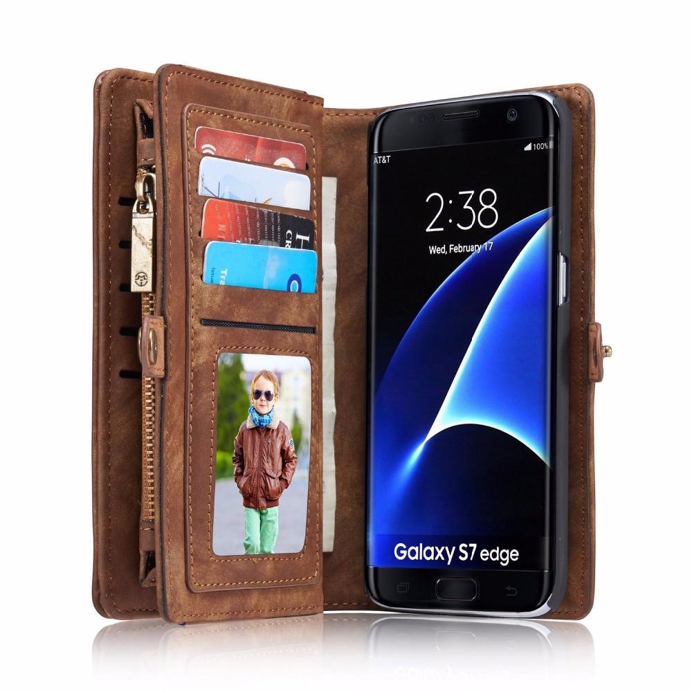 imágenes para CaseMe 08 Caja de la Carpeta de Lujo para Samsung Galaxy borde S7 S8 más Caso Cajas Del Teléfono Caso de Cuero Magnético S7 borde Coque cubierta