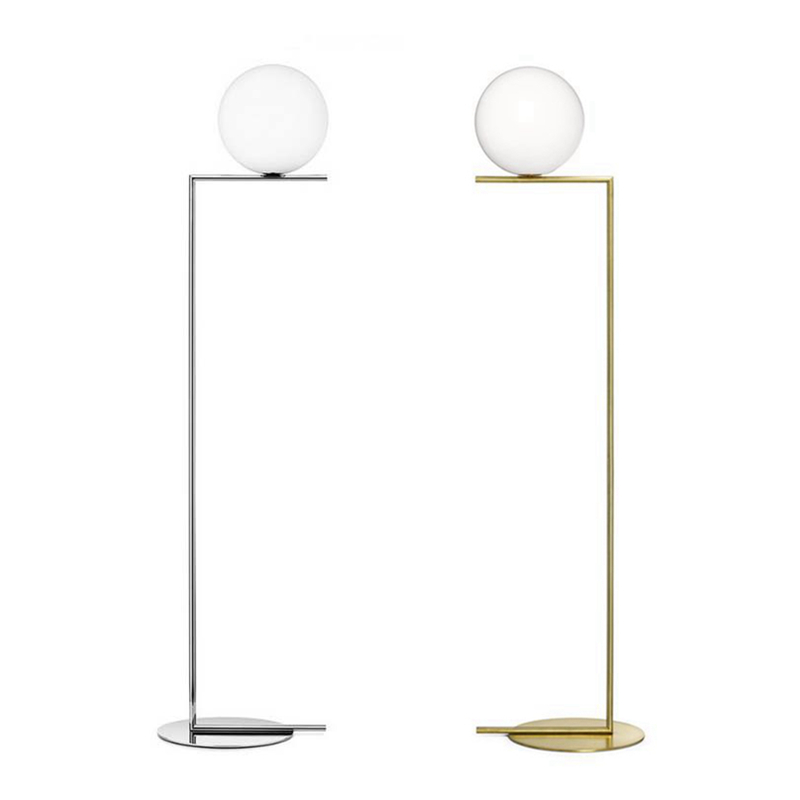 Post Modern Led Floor Lamp Creative Nordic Stand Light Glass Living Room Bedside Gold