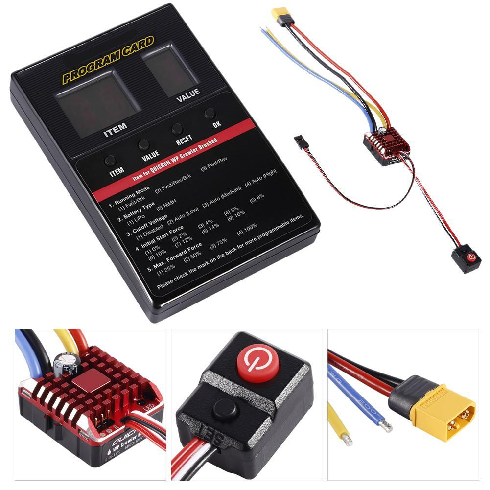 100% Original for HobbyWing QuicRun 1:10 Brushed 60A 1060 Electronic Speed Controller ESC 1060 RC Car Buggy 540 Waterproof brand new wp 1040 60a brushed esc controller waterproof for hobbywing quicrun rc car motor