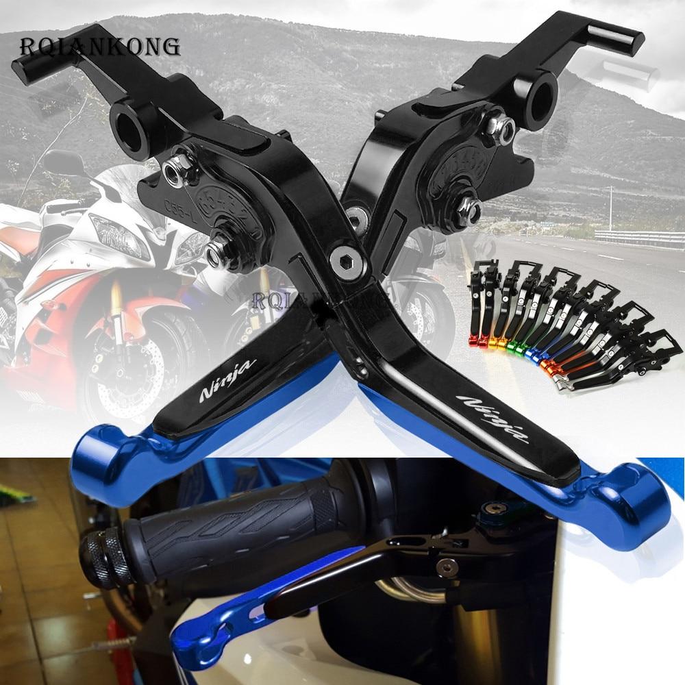 For Kawasaki Ninja 250/300 2008 2018 Ninja250 Ninja300 Motorcycle CNC Aluminum Adjustable Folding Extendable Brake Clutch Levers
