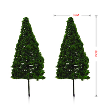FREE SHIPPING 50pcs wholesale Scale Train Layout Set Model 80mm architectural wire tree makers supply