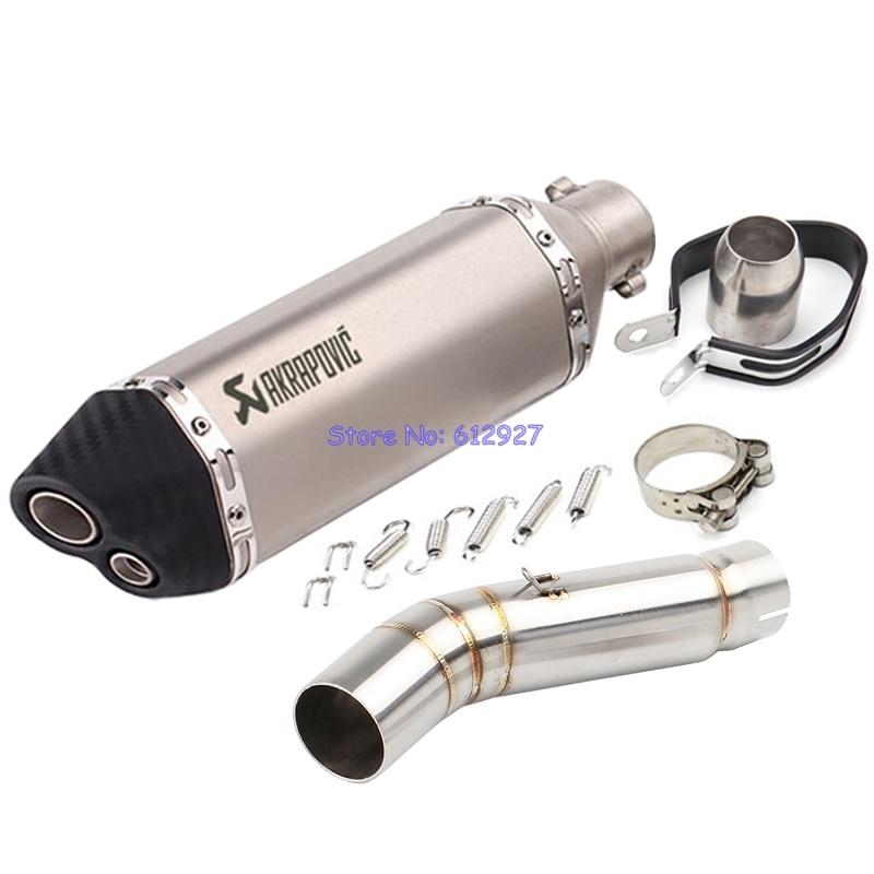 Мотоцикл для Honda CBR500R CBR500 выхлопных соединение Средняя труба с Akrapovic выхлопная Труба глушителя утечки скольжения по системе