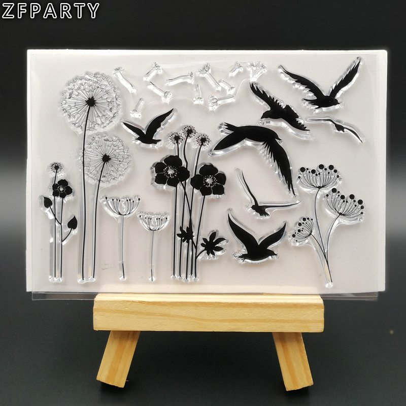 ZFPARTY New Transparent Clear Silicone Stamp/Seal for DIY scrapbooking/photo album Decorative card making lovely animals and ballon design transparent clear silicone stamp for diy scrapbooking photo album clear stamp cl 278