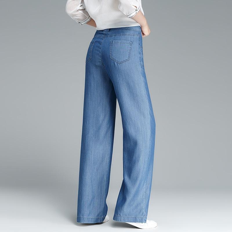 ตรงกางเกงผู้หญิงผ้าTencelกลางเอวผ้าคาดเอวกระเป๋าเต็มความยาวกางเกงออกแบบที่เรียบง่ายสไตล์ลำลอง2018แฟชั่นใหม่-ใน กางเกงและกางเกงรัดรูป จาก เสื้อผ้าสตรี บน   3