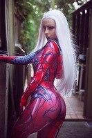 3D Print Carnage Gwen Spider Girl Cosplay Costume Spandex Superhero Zentai Bodysuit halloween costume for woman/kids Custom Made