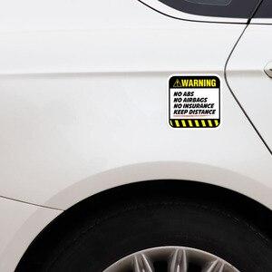 Image 5 - YJZT 2X 8,5 CM * 8,5 CM Gefahr Auto Aufkleber Warnung KEINE ABS AIRBAGS VERSICHERUNG HALTEN ABSTAND Aufkleber 12 1037