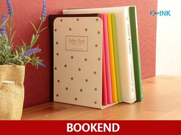 Métal polka dot serre livres noir blanc points bureau livre