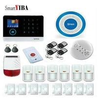 SmartYIBA APP RFID Control Multi Voice Prompt GPRS GSM WIFI Security Alarm System Solar Powered Siren Smoke Panic Alarm Kits