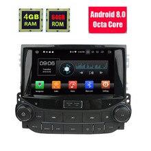 8 «Восьмиядерный Android 8,1 4 Гб ОЗУ 64 Гб ПЗУ 4G RDS автомобильный DVD плеер радио GPS навигационная система ГЛОНАСС для Chevrolet Malibu 2014 2015 2016