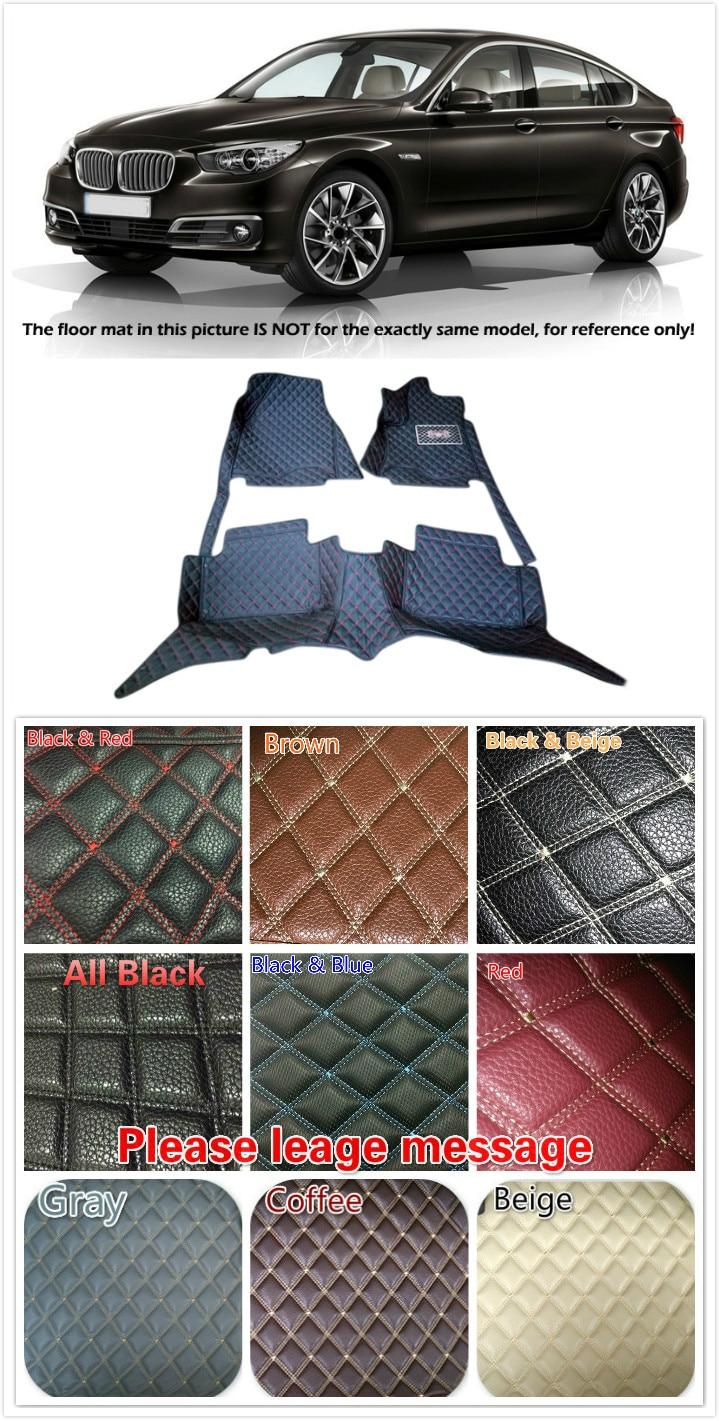 Customs 5 Seats 1 Set Car Floor Mat Leather Waterproof Front & Rear Floor Mats Carpets Pads for BMW 5 Series 5GT F07 2010 - 2015 5 seats 1 set customs car floor mat leather waterproof front